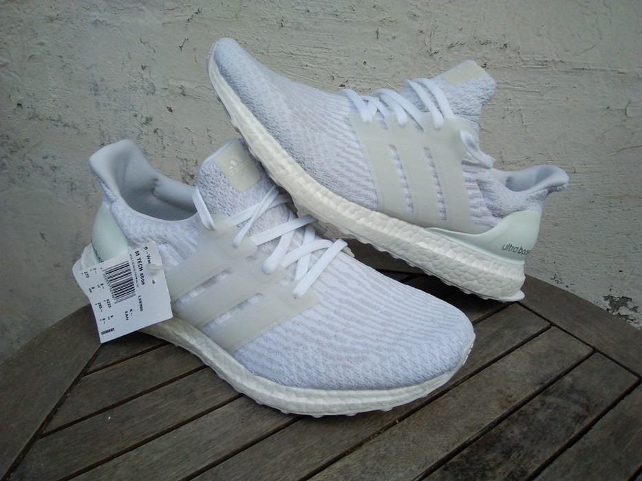 98759f5180636 Adidas Adidas Ultra boost 3.0 triple white new under retail Size US 9   EU  42