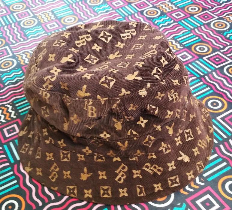 68cf1c36bf3 Playboy. Playboy monogram bucket hat corduroy brown not fendi louis vuitton  ...