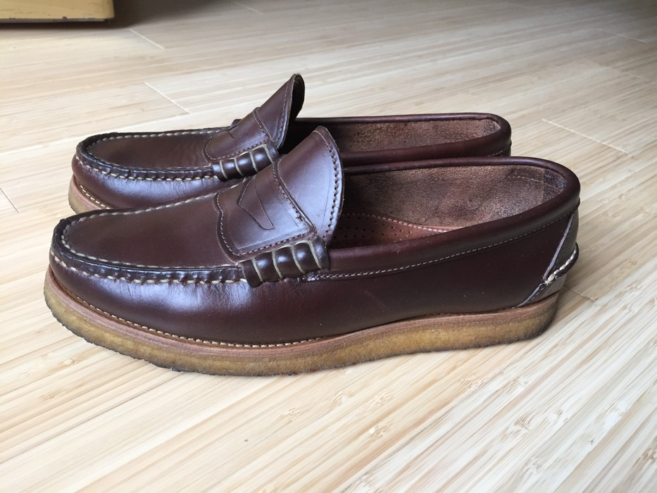 6d9be61112f Oak Street Bootmakers Brown Beefroll Penny Loafer Crepe Sole Size 8 ...