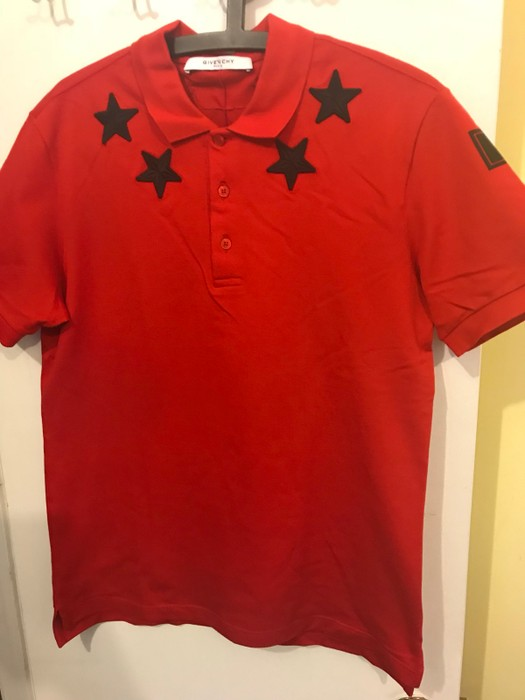 4dd1dadf Givenchy Star-Print Knit Polo Shirt Size m - Polos for Sale - Grailed
