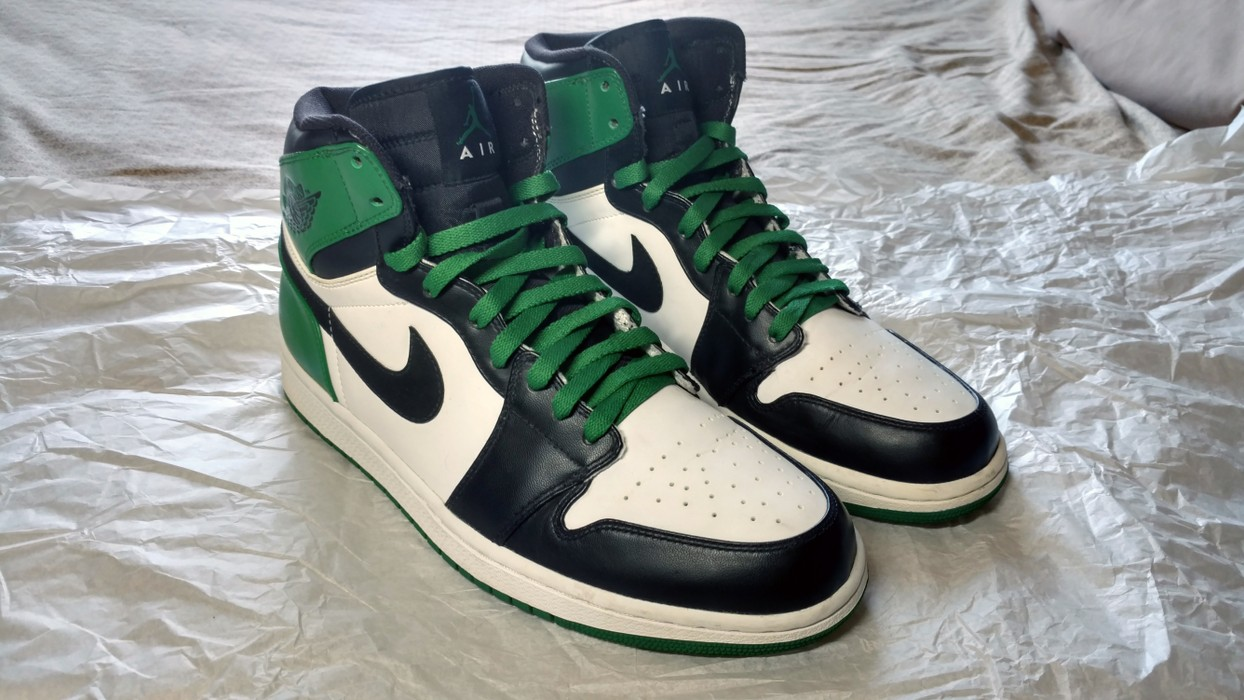 9fd7994525701a Jordan Brand Air Jordan 1 Retro DMP Boston Celtics Size 10 - Hi-Top ...