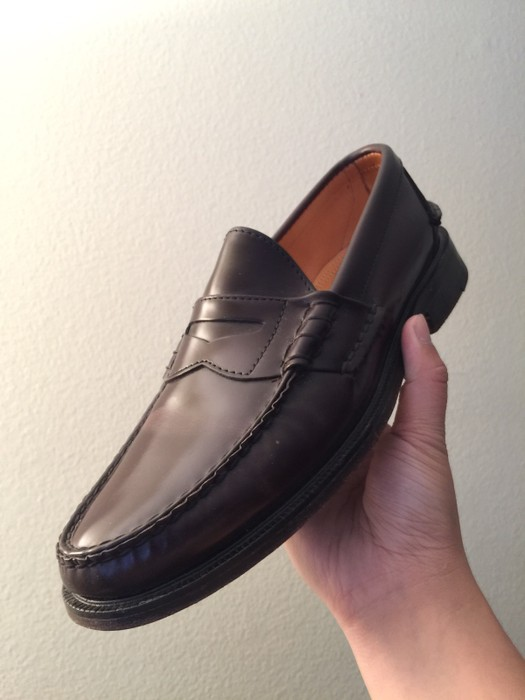 8aaa62151a7 Alden Alden Cape Cod Collection Oxblood Beef Roll Penny Loafers Size ...
