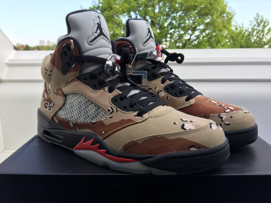 a02f701e675da6 Supreme Air Jordan 5 Supreme RARE SIZE Size 12.5 - Hi-Top Sneakers ...