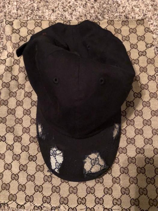 355361de2e6cf Custom Custom Gucci Distressed Baseball dad Hat Size one size - Hats ...