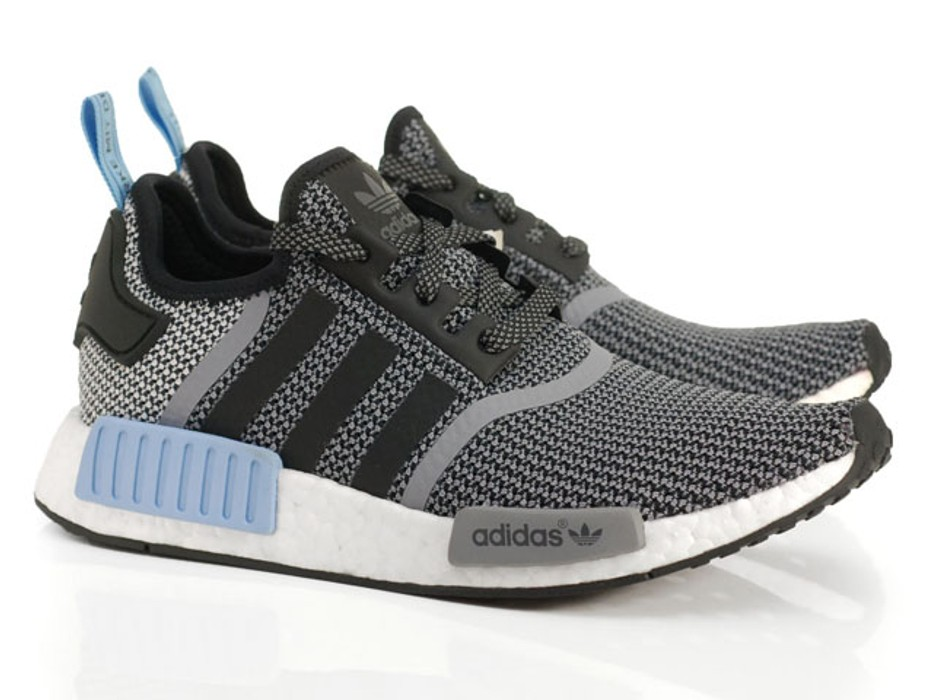 d516f6edde781 Adidas NMD R1 Black Light Blue Grey Size 9.5 - Low-Top Sneakers for ...