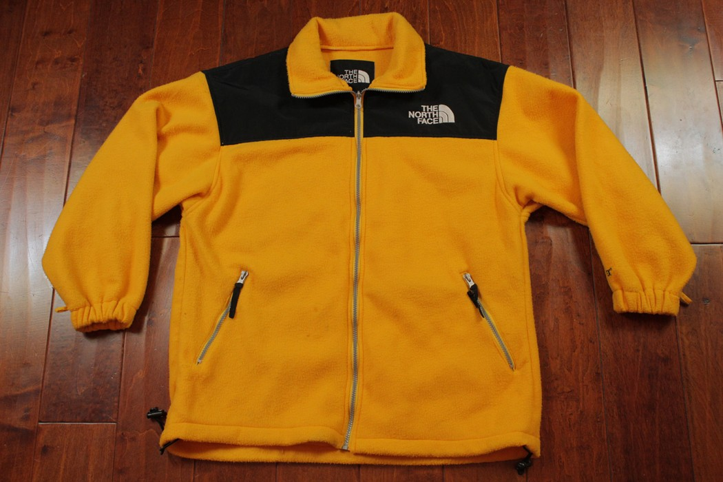 fe9a189ef5b4 The North Face Vintage The North Face Yellow Gore Tex Fleece Jacket ...