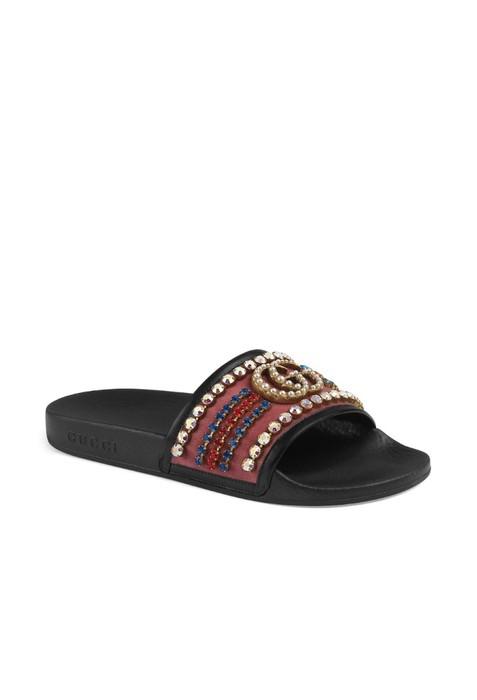 32cbbad552d Gucci Gucci Crystal Pursuit Slides Size 6 - Sandals for Sale - Grailed