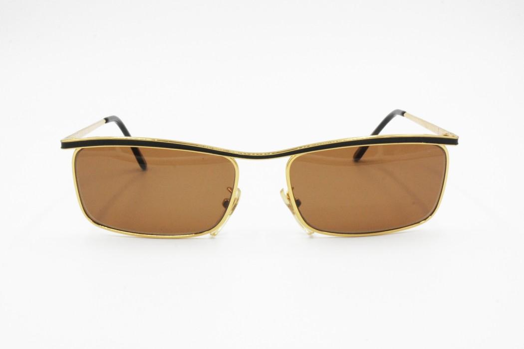 b588fd4946a Vintage Le Club Actif 1104 Golden   Black squared men sunglasses brown  lenses