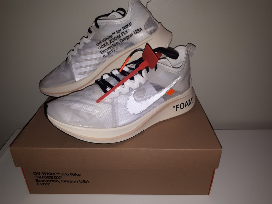 808038ce7aec Nike Nike x Off-White The 10 Zoom Fly size US 13 Size 13 - Low-Top ...