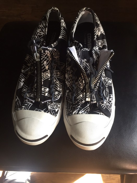 2e748ce1de Converse Musical Notes Jack Purcell Shoes Size 9 - Low-Top Sneakers ...