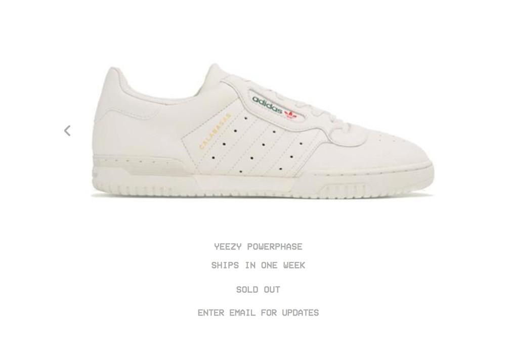 7b1b59e9036a3 Adidas Kanye West Adidas Yeezy Powerphase Calabasas Chalk Cream Size 10  Kanye West Size US 10