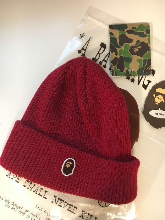 acf617d5e31 Bape APE HEAD ONE POINT KNIT CAP Size one size - Hats for Sale - Grailed