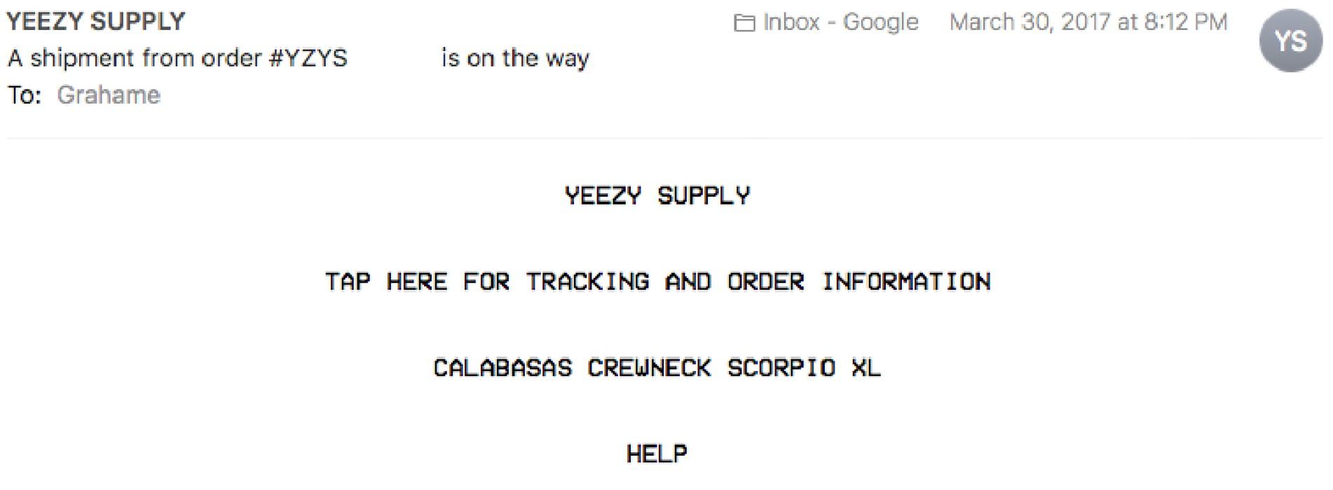 a433218775c7e Adidas Kanye West Yeezy Calabasas Scorpio Crewneck Size US XL   EU 56   4 -