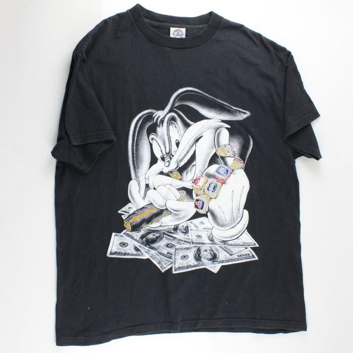 b8c6d9a5be6 Vintage Vintage Hood Bugs Bunny Tee Size l - Short Sleeve T-Shirts ...