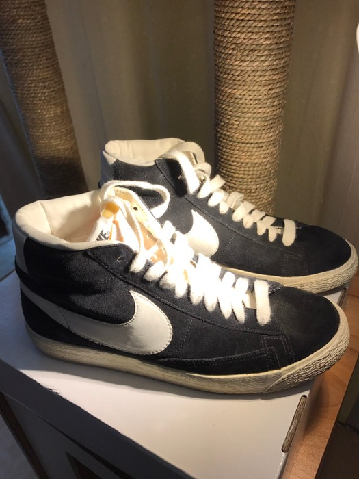official photos 1ca8b 7302c Nike. Blazer Hi Suede in Vintage Black