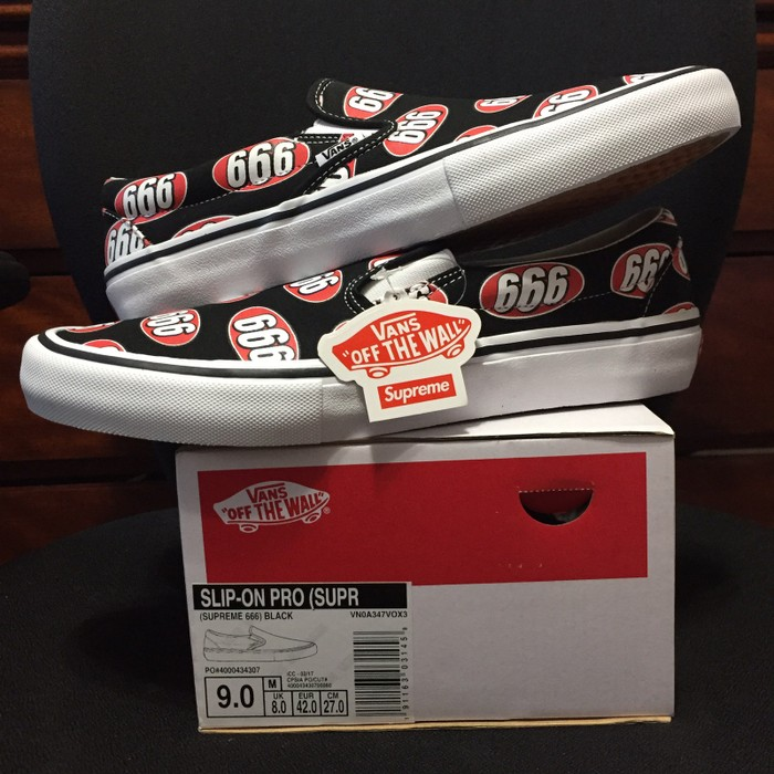 92e66ec78c Supreme Supreme Vans 666 Slip-on Size 9 - Slip Ons for Sale - Grailed