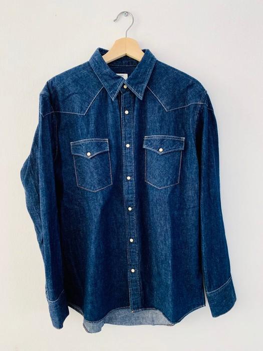 6e1202590d0 Visvim. Social Sculpture Four Corners Denim Shirt. Size  US M   EU 48-50   2
