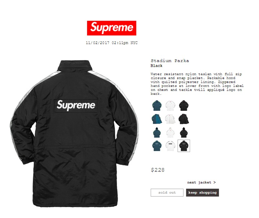 69c5d506c7ef Supreme Supreme Stadium Parka Black Size m - Denim Jackets for Sale ...