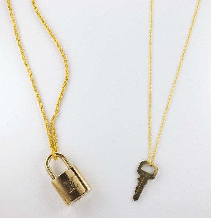 611f71677f14 Louis Vuitton His   Hers Louis Vuitton Gold Lock Necklaces 🔥FREE  SHIPPING🔥 Size ONE