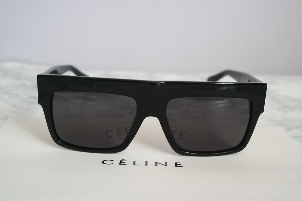 d4c375078738 Celine NEW Celine ZZ Top Oversized Black Polarized Sunglasses Size ONE SIZE  - 5