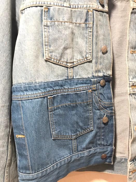 5bbdfe7975 Maison Margiela Bleached Patchwork Denim Jacket Size US M   EU 48-50   2