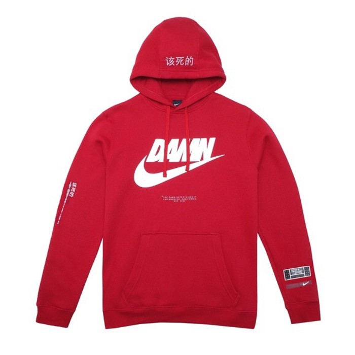 11222f79782f Nike TDE x Nike DAMN red Hoodie Size xl - Sweatshirts   Hoodies for ...