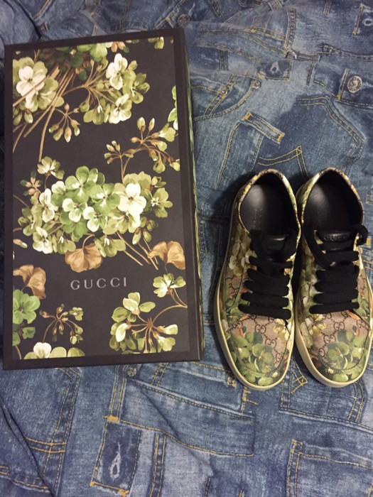 6329622b1e4 Gucci GUCCI GREEN FLORAL SHOES Size 9 - Low-Top Sneakers for Sale ...