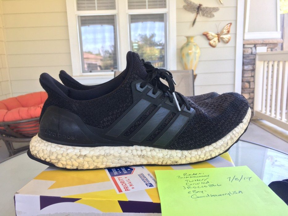a1f48497670 Adidas Ultra Boost 2.0 Core Black Beaters Size 10.5 - Low-Top ...