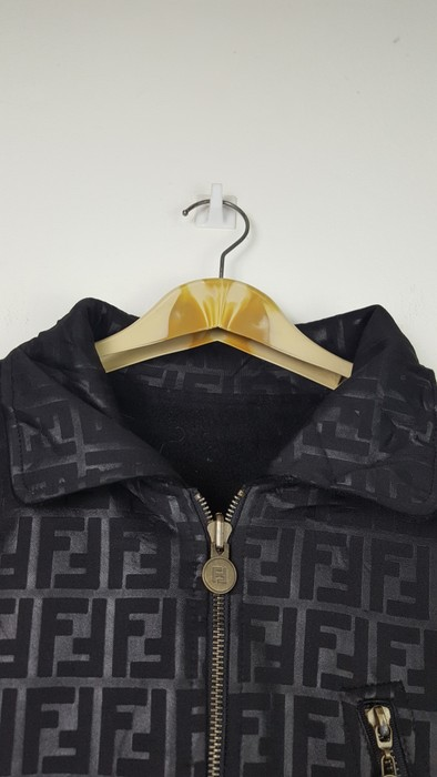 8add4e7e70f679 Fendi Vintage FENDI ROMA JEANS monogram big logo reversible jacket Size US  L   EU 52