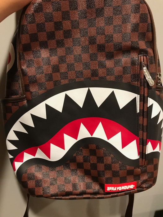 3651ef72d3b1 Sprayground Sprayground Sharks In Paris Louis Vuitton Backpack Size ONE SIZE