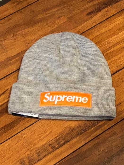1513f6b18d782 Supreme Supreme New Era Box Logo Beanie Heather Grey Size one size ...