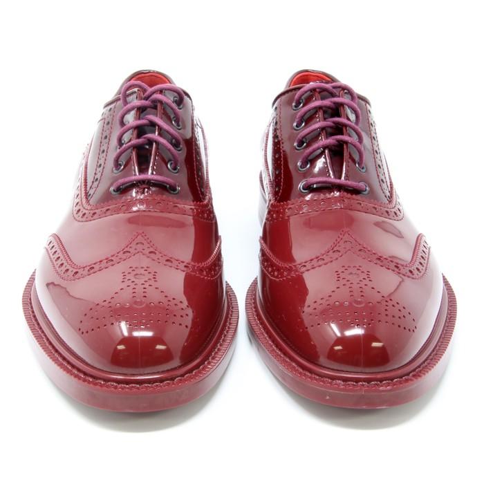 08d5ffbf93b6 Vivienne Westwood Vivienne Westwood Burgundy Signature Men s Rubber Lace Up  Brogue Sz 9 Size US 9