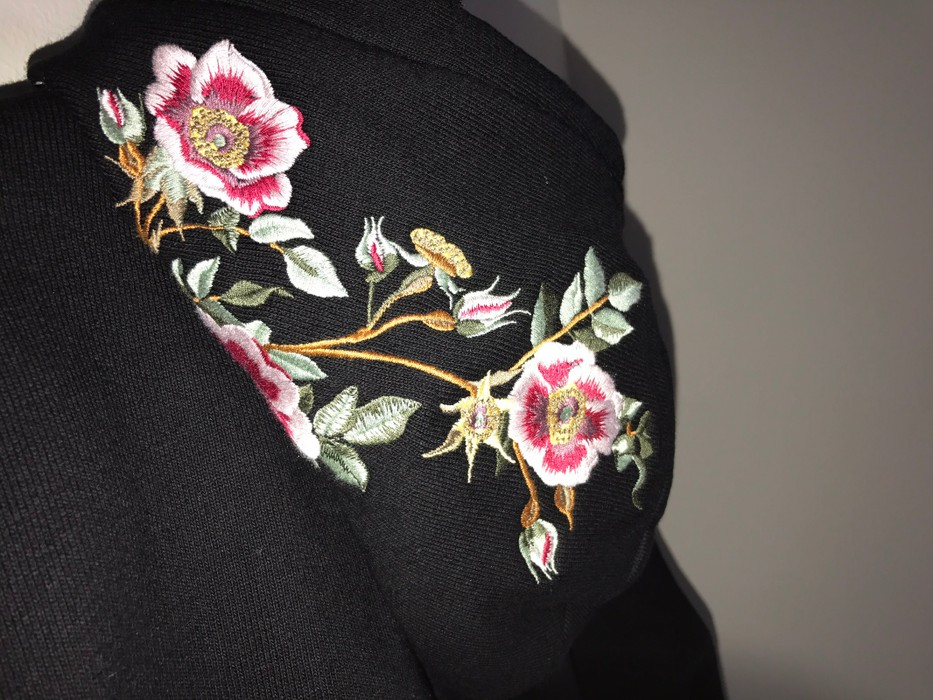Gucci sacred heart cotton sweatshirt hoodie with embroideries size