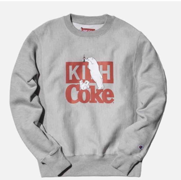 646a44e99946 Kith Nyc Kith x Coke Polar Bear Crewneck Gray Confirmed Ronnie Fieg ...
