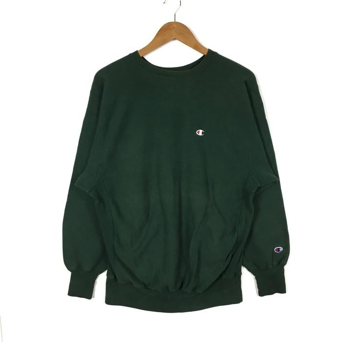 2a959c01d32a Vintage Vintage 90s Champion Crewneck Sweatshirt Champion Reverse Weave  Green Colour Pullover Jumper Size XLarge Hip