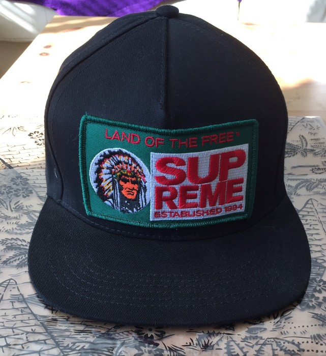 3ba9eb60af8a2 Supreme Land Of The Free SnapBack Black Size one size - Hats for ...