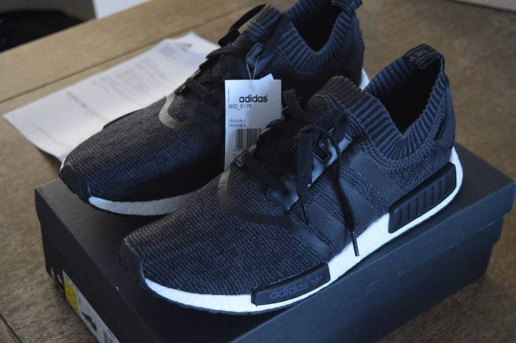 48a69bb78 Adidas Adidas Primeknit NMD Runner Wool Black Size 13.5 Brand New Size US 15    EU