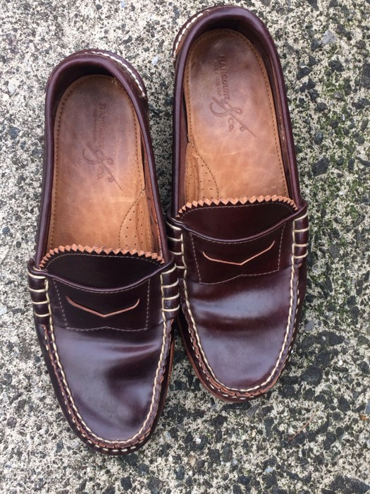 dae5606f776 Rancourt   Co. Shell Cordovan Pinch Penny Loafer Size 8 - Casual ...
