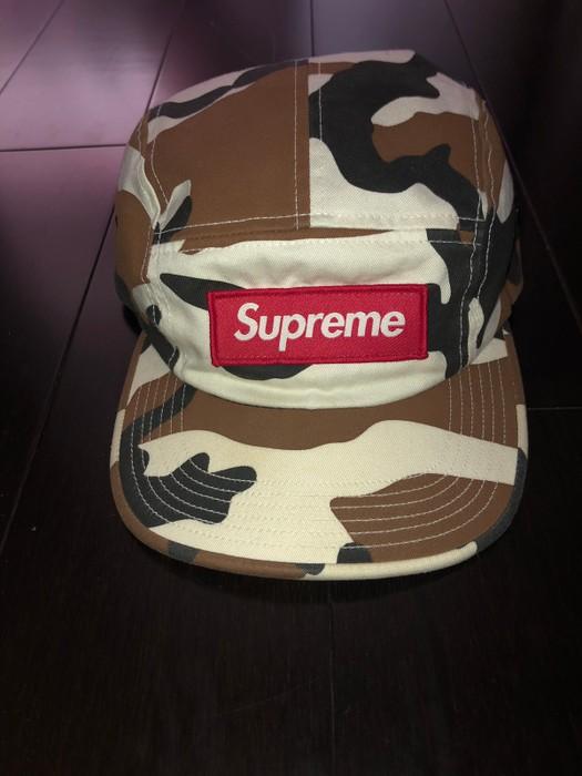 649312e427e Supreme Supreme White Snow Cow Desert Camo Camp Cap Hat FW16 Size ONE SIZE