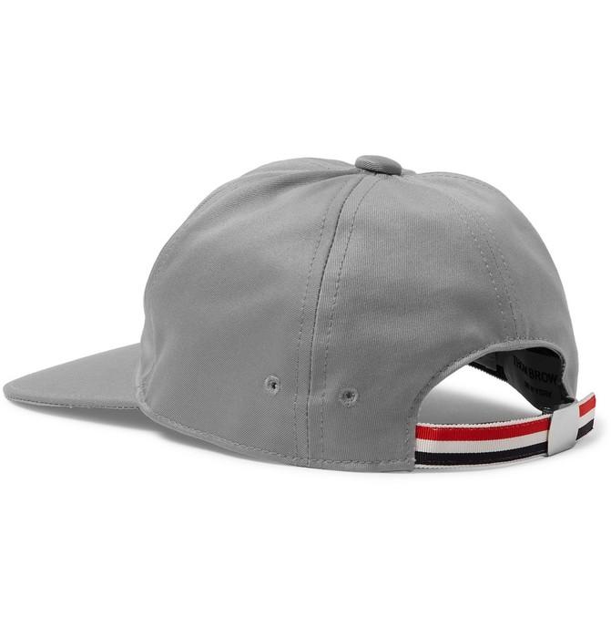 Thom Browne NEW Thom Browne Grosgrain Trim Cotton Twill Baseball Hat ... 353634f94a2f
