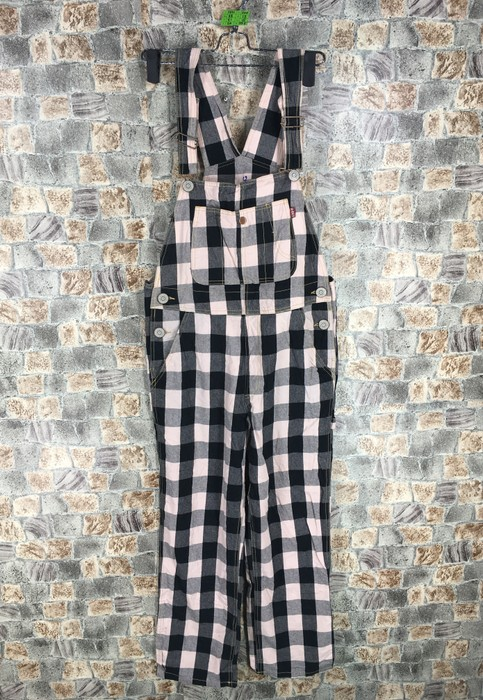 08fc5f83c83 Japanese Brand Japanese Brand Checkered Overall Checkerboard Jumpsuit  Designer Jeans Waist 29 Size US 29