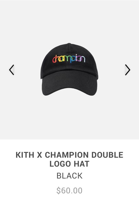 72079a317f63b Kith Nyc Kith X Champion Double Logo Hat Size one size - Hats for ...