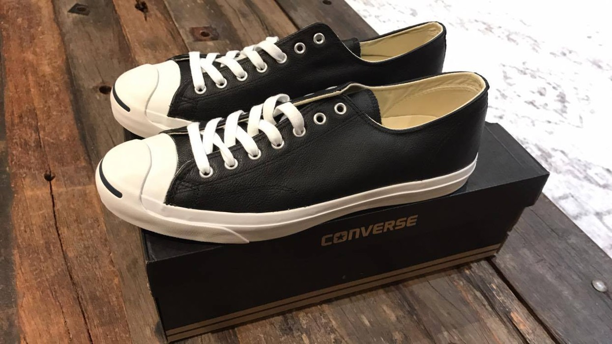 390f90b5aeeb Converse Black Converse Jack Purcell Leather Sneaker Size US 13   EU 46