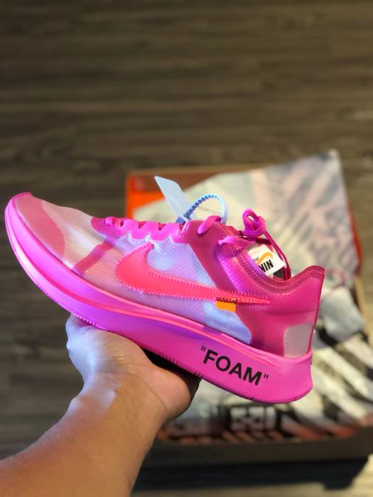 fa55d711e97c Nike Off-White Nike Zoom Fly Pink Size 11 - Low-Top Sneakers for ...
