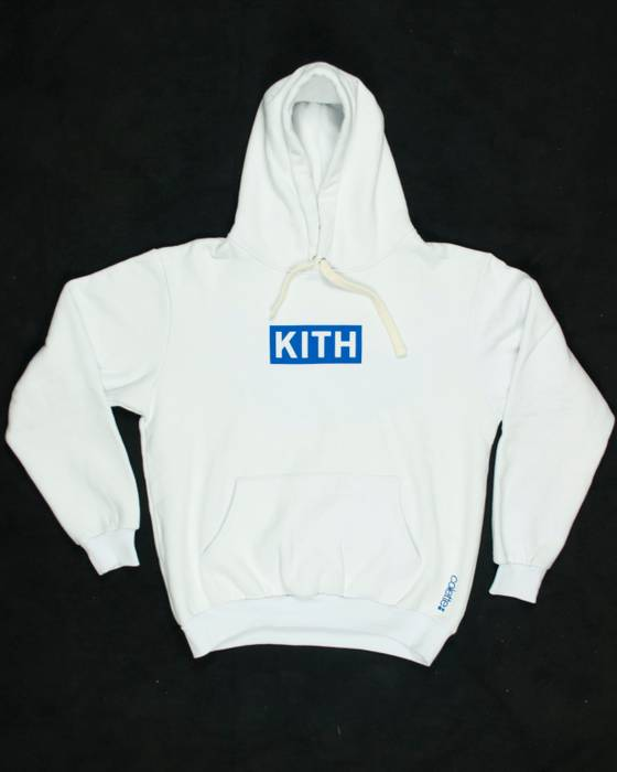0a62be6ae2 Kith Nyc White Williams Box Logo Hoodie Size l - Sweatshirts ...