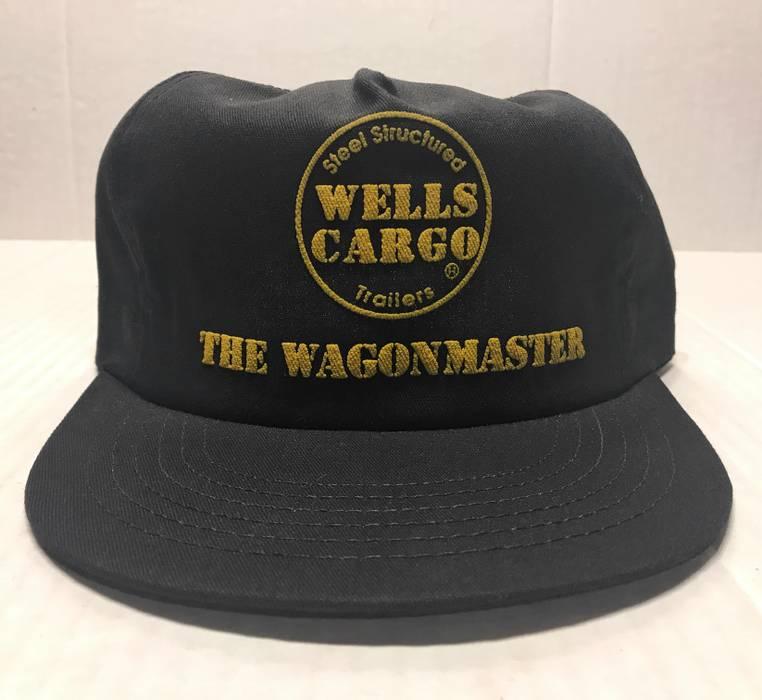 481d2ddd660 Vintage 80s Wells Cargo Trailers Wagonmaster Black Hat Size one size ...