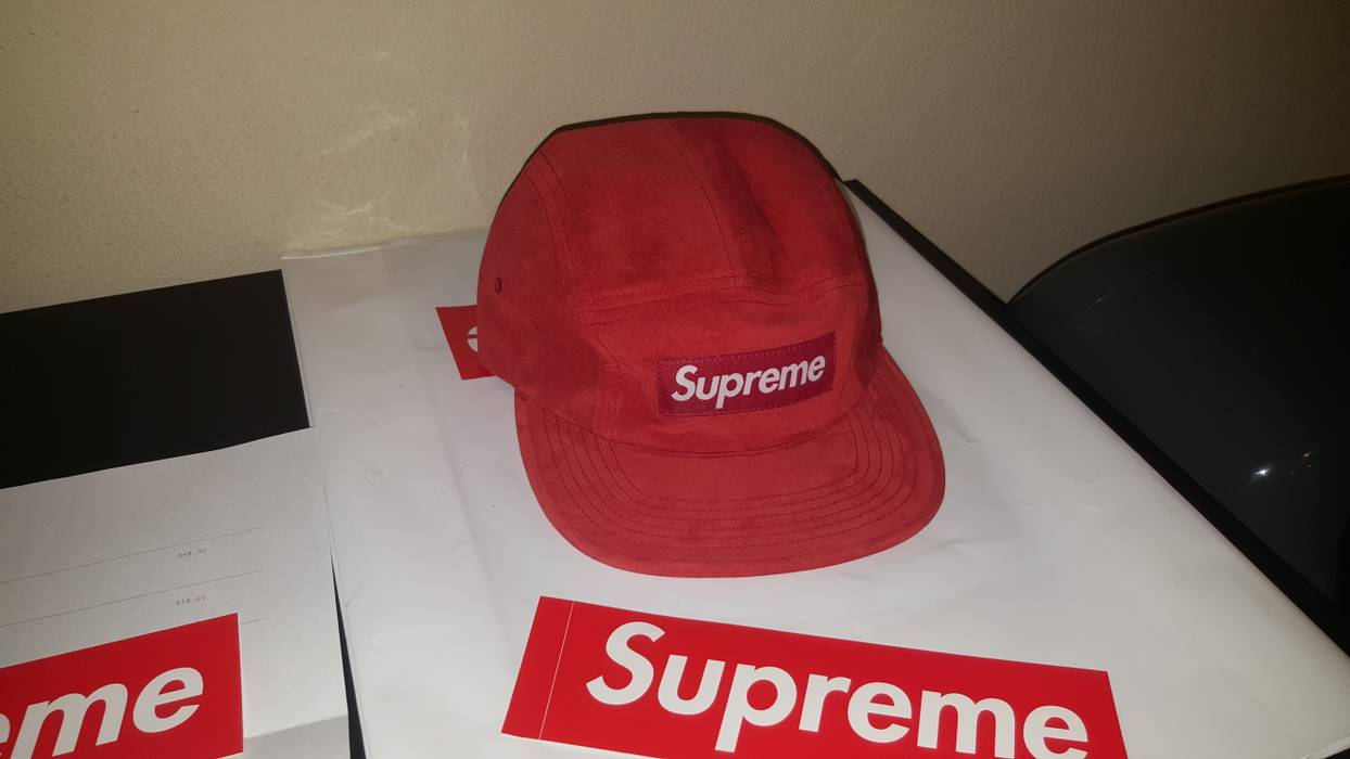 da196db62753 Supreme Suprme suede red camp cap Size one size - Hats for Sale ...