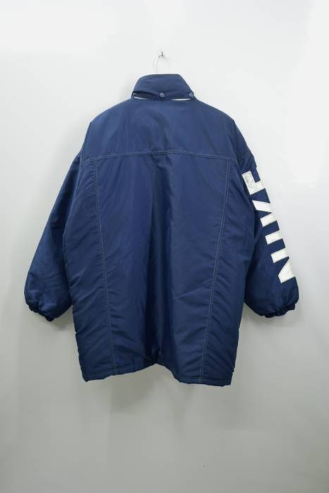Nike NIKE Jacket Vintage 90 s Nike Swoosh Big Logo Spell Out Long Winter  Button Zipper Jacket dbe7bd193