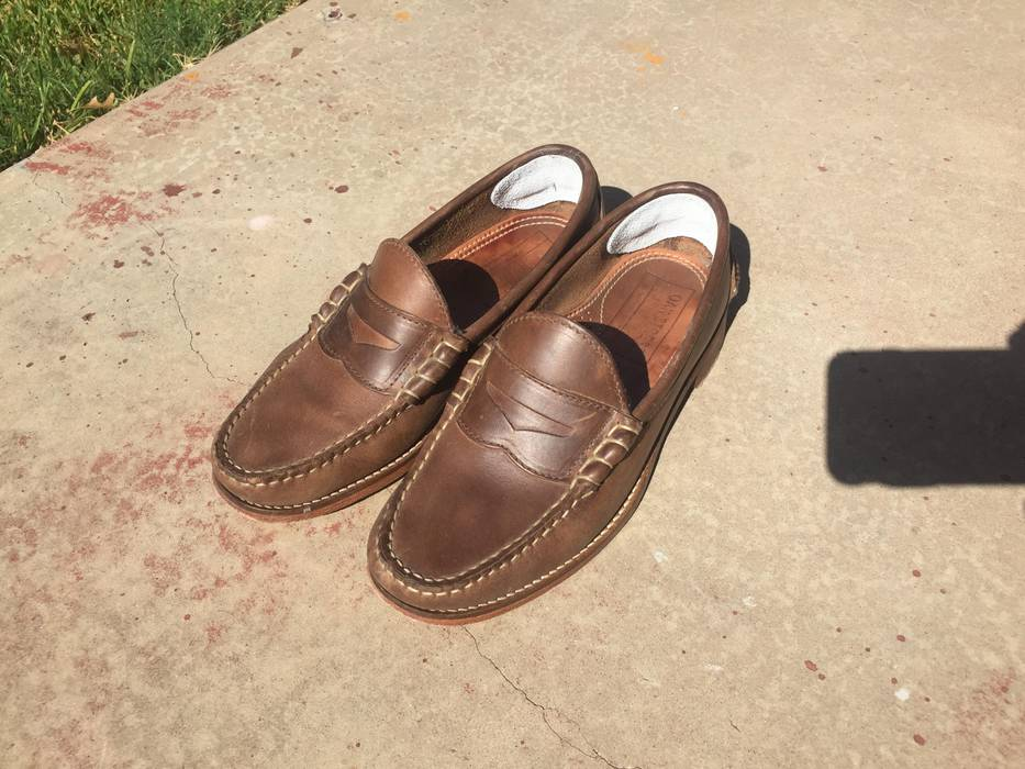 c21cf6bed91 Oak Street Bootmakers Natural Beefroll Penny Loafer Size US 7.5   EU 40-41 -