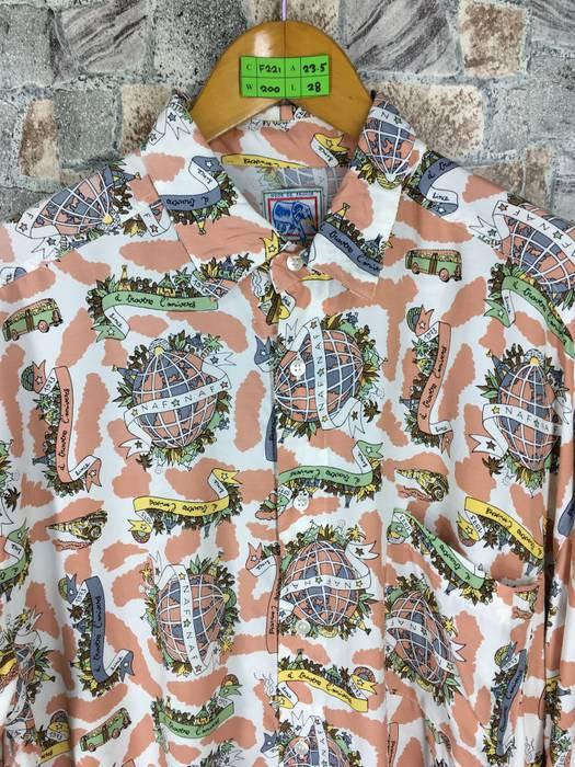 World Map Button Down Shirt.Hawaiian Shirt Vintage 80s Hawaiian Rayon Shirt Large Hawaiian World